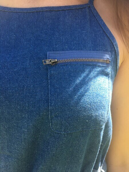 Front pocket feature